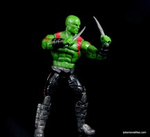 Guardians of the Galaxy Marvel Legends exclusive -Drax standing with daggers