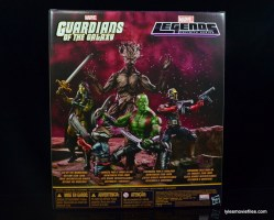 Guardians of the Galaxy Marvel Legends exclusive - package rear