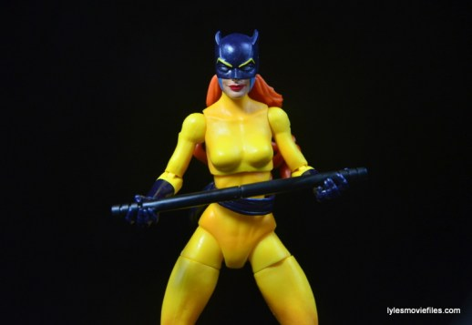 Marvel Legends Hellcat figure review -holding baton out