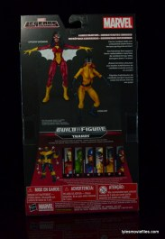 Marvel Legends Hellcat figure review - package rear