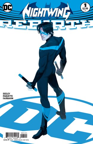 Nightwing Rebirth issue 1 variant cover