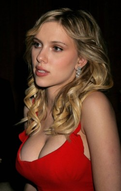 Scarlett Johansson Red Dress