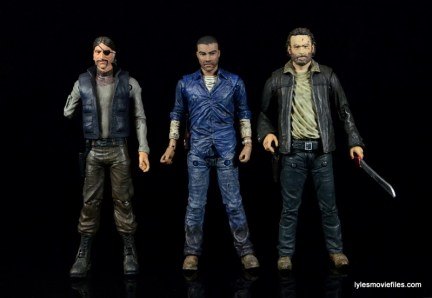 The Walking Dead Lee Everett McFarlane Toys figure -scale with comic The Governor and Rick Grimes