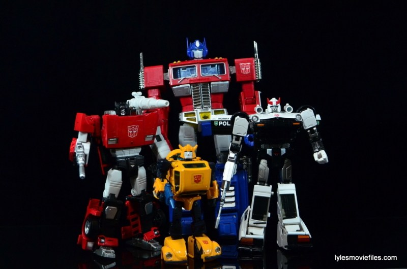 Transformers Masterpiece Bumblebee review -Autobots Optimus Prime, Sideswipe, Bumblebee and Prowl