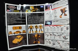 Transformers Masterpiece Bumblebee review -instructions front