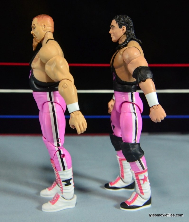 WWE Elite 43 Hart Foundation figures -left side