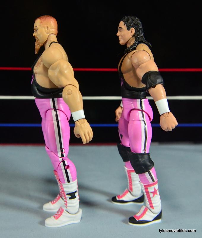 WWE Elite 43 Hart Foundation figures -left side