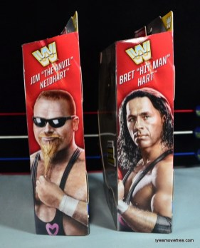 WWE Elite 43 Hart Foundation figures -package side