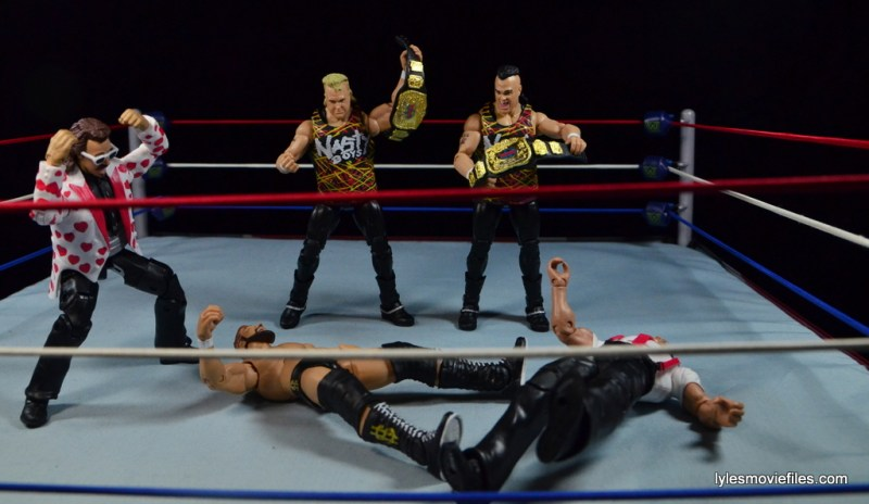 WWE Nasty Boys Elite 42 -beating down Money Inc