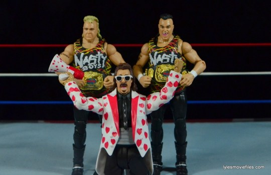 WWE Nasty Boys Elite 42 -holding tag team titles with Jimmy Hart