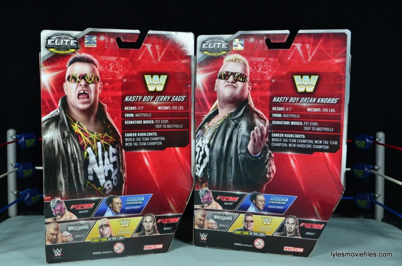 WWE Nasty Boys Elite 42 -rear package