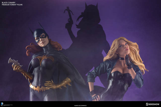 dc-comics-black-canary-premium-format-figure-birds of prey with Huntress tease