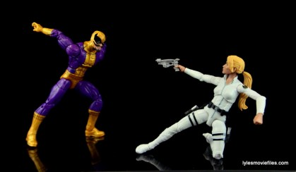 Marvel Legends Batroc figure review -about to attack Sharon Carter