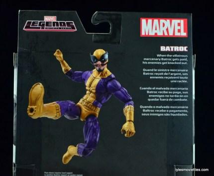 Marvel Legends Batroc figure review - bio close up