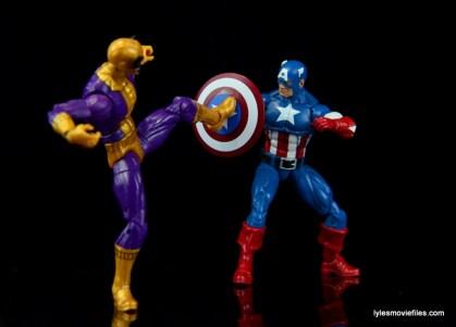 Marvel Legends Batroc figure review - kicking Captain America