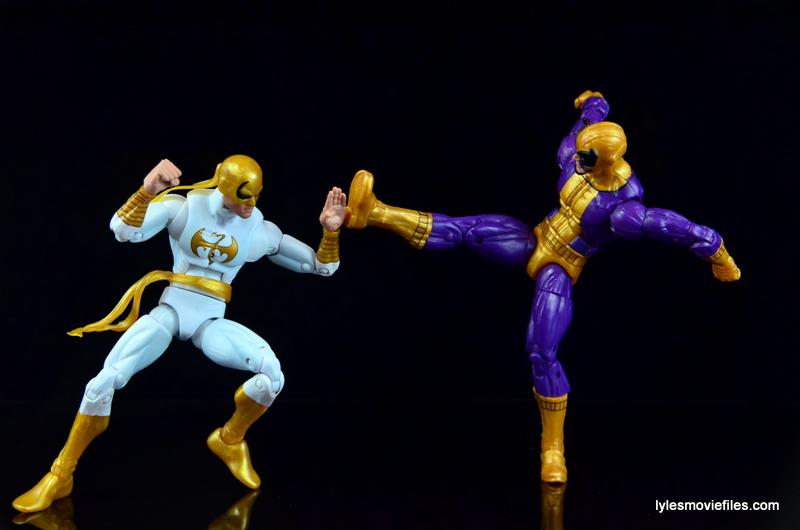 Marvel Legends Batroc figure review -kicking Iron Fist