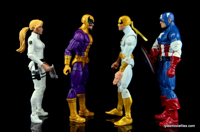 Marvel Legends Batroc figure review -scale with Sharon Carter, Iron Fist and Captain America