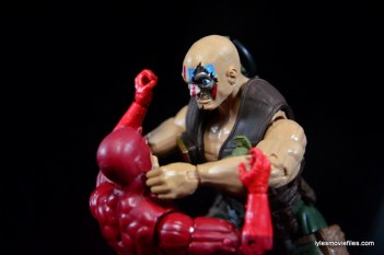 Marvel Legends Nuke review - choking out Daredevil left side