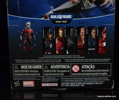 Marvel Legends Nuke review - package rear bottom