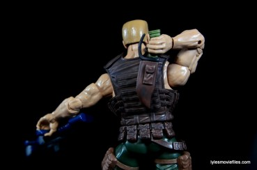 Marvel Legends Nuke review - reaching for knife