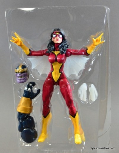 Marvel Legends Spider-Woman figure review - accessory tray