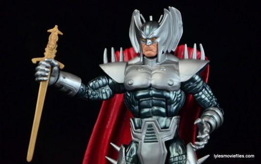 Marvel Legends Stryfe figure review -holding sword