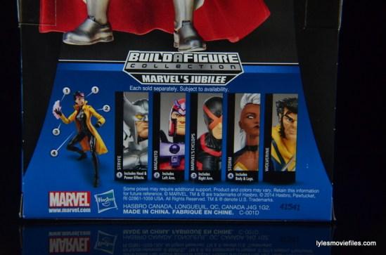 Marvel Legends Stryfe figure review -package back bottom