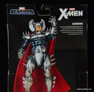 Marvel Legends Stryfe figure review -package bio