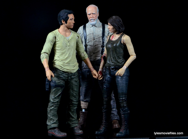 The Walking Dead Maggie Green figure McFarlane Toys - Glenn, Herschel and Maggie