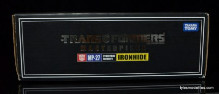 Transformers Masterpiece Ironhide figure review -package top