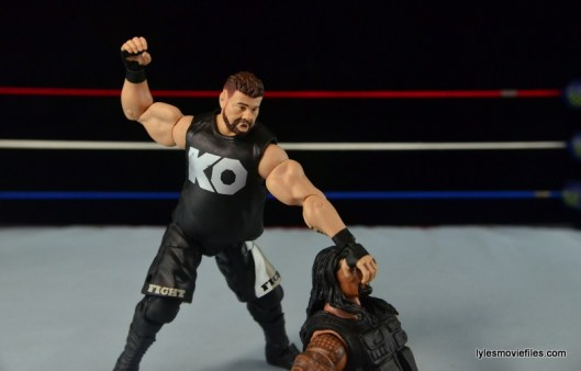 WWE Elite 43 Kevin Owens figure review - clubbering Roman Reigns