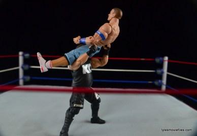 WWE Elite 43 Kevin Owens figure review - pop-up power bomb to John Cena
