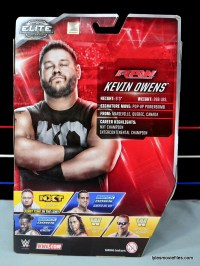 WWE Elite 43 Kevin Owens figure review - rear package