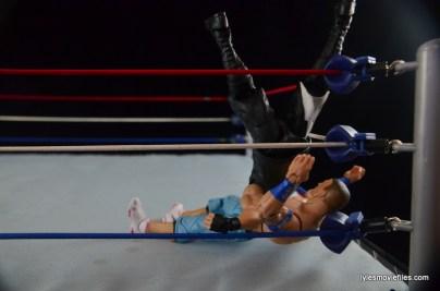 WWE Elite 43 Kevin Owens figure review - rolling senton in corner