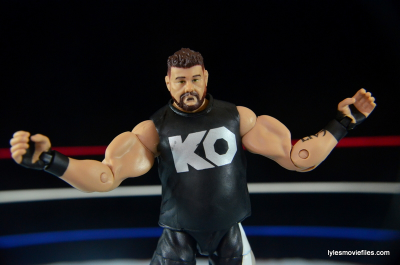 WWE Elite 43 Kevin Owens figure review - weird biceps