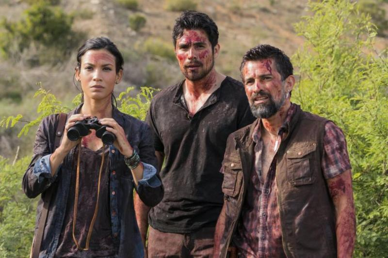 fear the walking dead grotesque review - luciana, francisco and scout