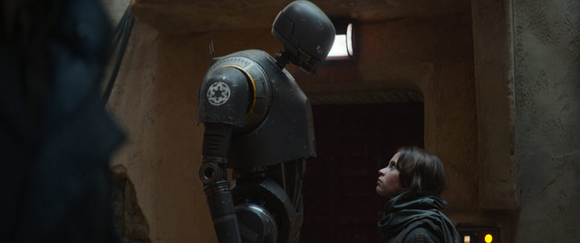 rogue one trailer - K-2SO and jyn erso
