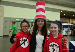 Baltimore Comic Con 2016 - Dr. Seuss and Thing 1 and Thing 2