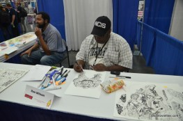 Baltimore Comic Con 2016 - Ron Wilson working