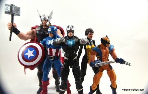 Marvel Legends Havok figure review -with Thor, Captain America, Wasp and Wolverine