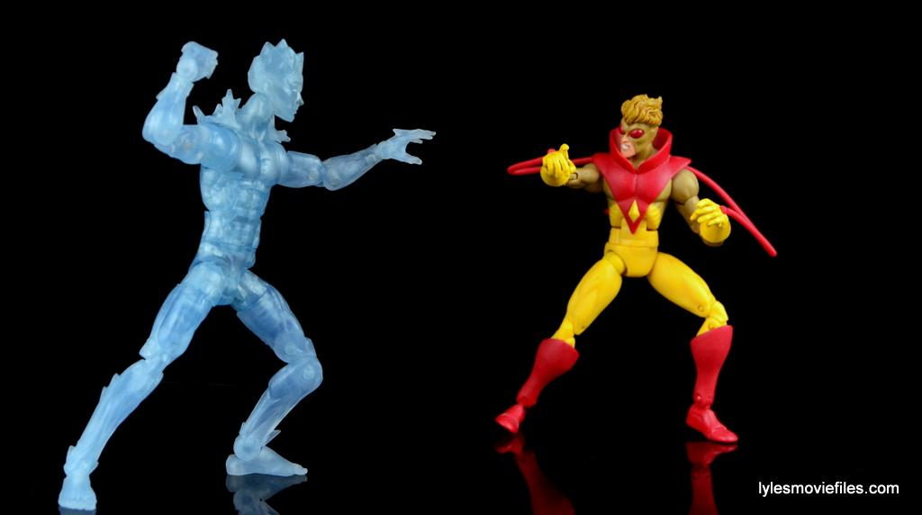 Marvel Legends Iceman figure review X-Men Build-A ...