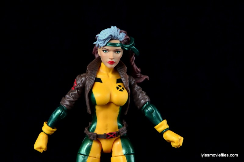 Marvel Legends Rogue figure review - wide shot