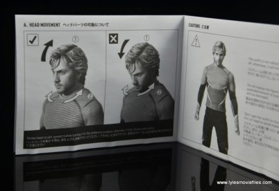 Hot Toys Quicksilver figure review - instructions 1