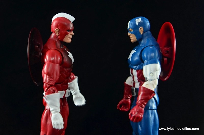 Marvel Legends Red Guardian figure review - face off with Captain America