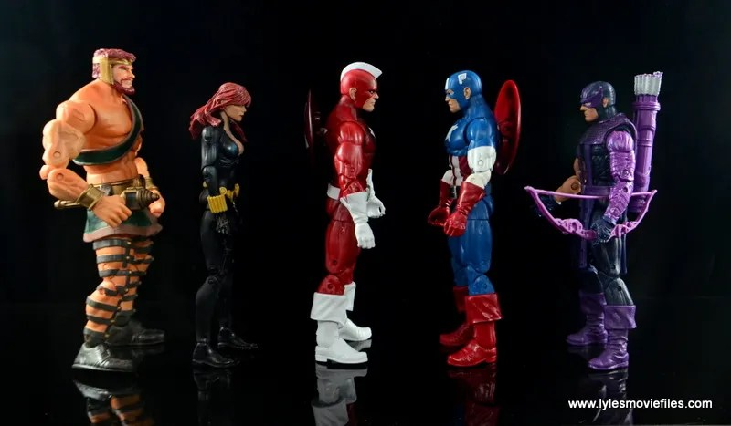 Marvel Legends Red Guardian figure review - scale with Hercules, Black Widow, Captain America and Hawkeye