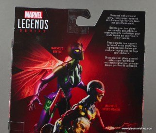 Marvel Legends Speed Demon figure review - bio