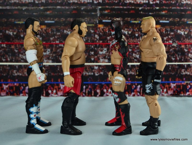 wwe-elite-43-samoa-joe-figure-review-scale-with-cm-punk-finn-balor-and-brock-lesnar