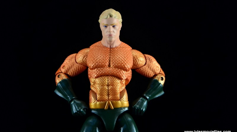 DC Icons Aquaman figure review - hands on hips