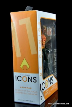 DC Icons Aquaman figure review - package side