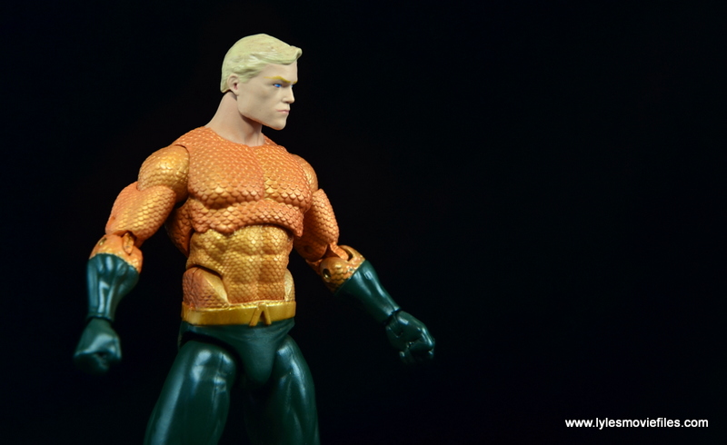 DC Icons Aquaman figure review - side shot